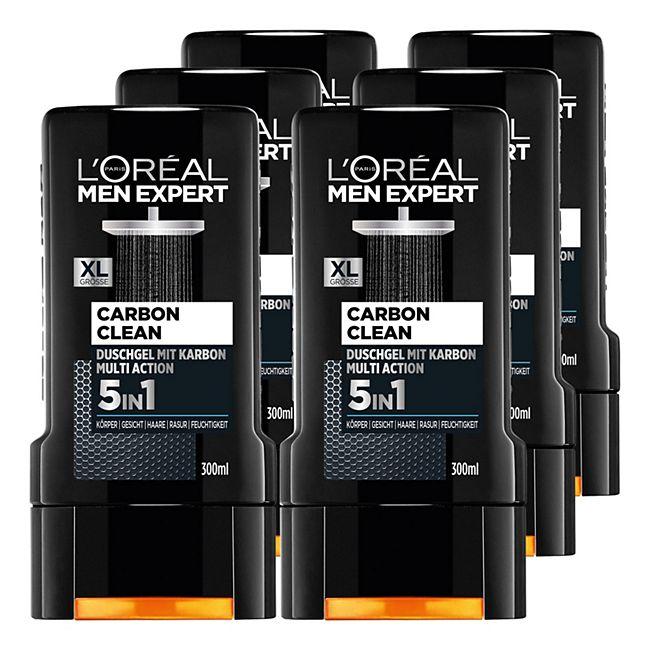 Loreal Men Expert Duschgel Carbon Clean 300 ml, 6er Pack - Bild 1