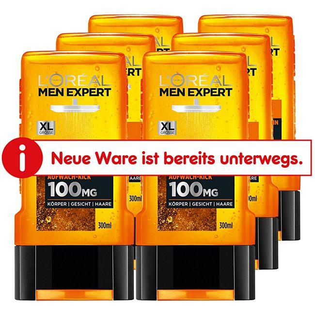 Loreal Men Expert Duschgel Hydra Energy Taurin 300 ml, 6er Pack - Bild 1