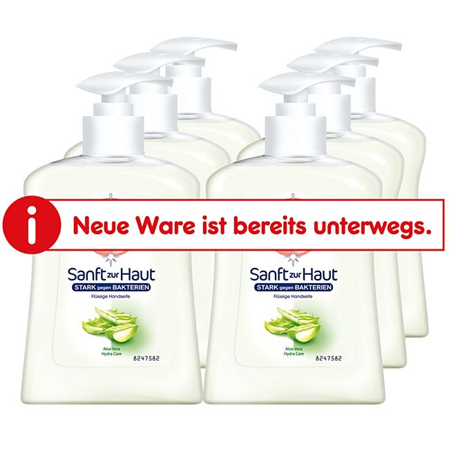 Sagrotan Flüssigseife Aloe Vera 250 ml, 6er Pack - Bild 1