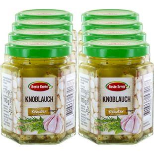 Beste Ernte Knoblauch in Kräutermarinade 170 g, 8er Pack - Bild 1