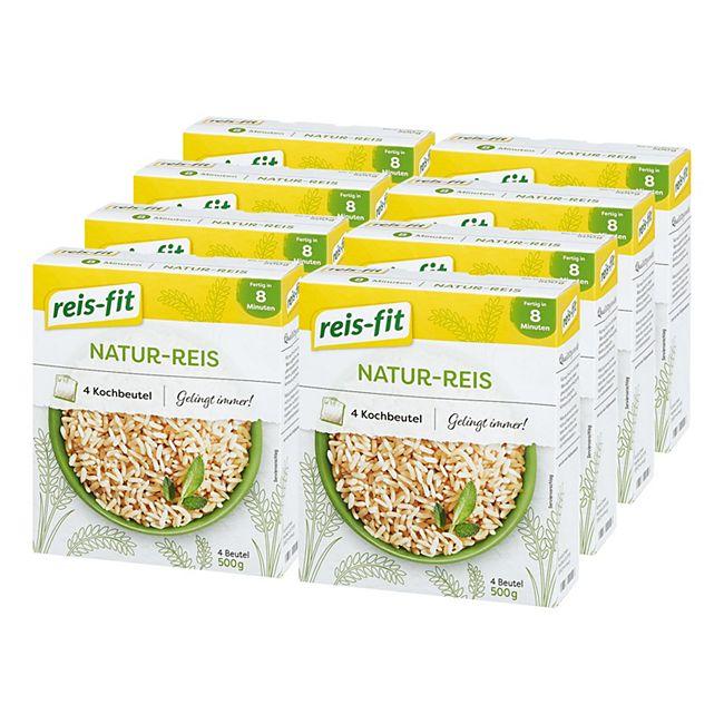 Reis-fit Natur Reis 500 g, 8er Pack - Bild 1