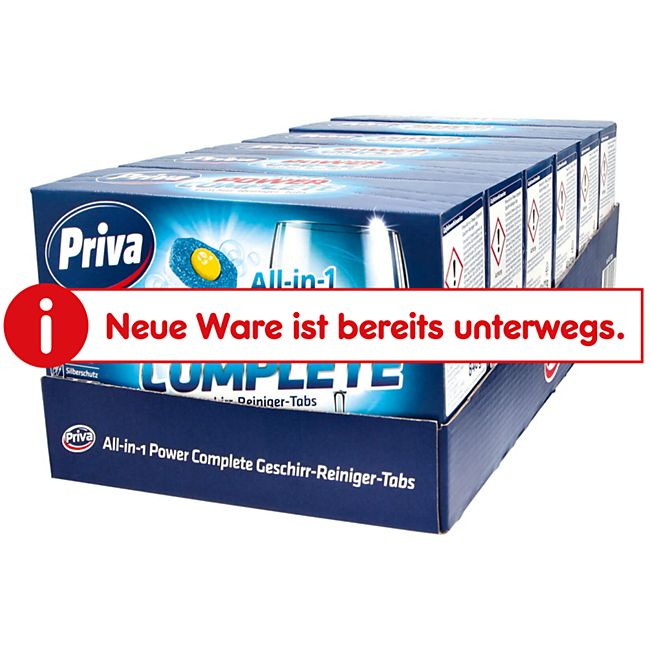 Priva All-in-1 Power Complete Geschirr-Reiniger-Tabs 40 Tabs 840 g, 6er Pack - Bild 1