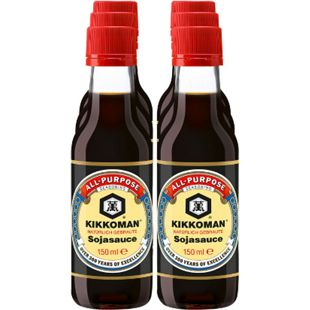 Kikkoman Soja Sauce 150 ml, 6er Pack - Bild 1