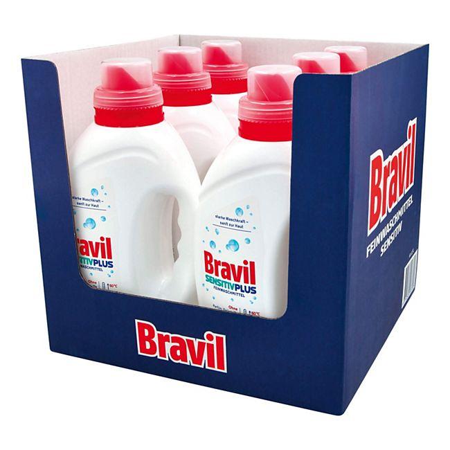Bravil Feinwaschmittel Sensitiv Plus 1,5 Liter, 6er Pack - Bild 1