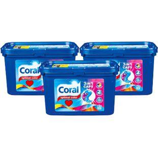 Coral 3 in 1 Colorwaschmittel 18 Waschladungen, 3er Pack - Bild 1