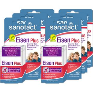 sanotact Eisen Plus Mini-Tabletten 100 Tabletten, 6er Pack - Bild 1