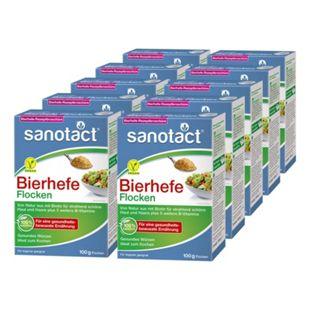 sanotact Bierhefe Flocken 100 g, 10er Pack - Bild 1