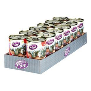 Fine Feines Menü Katzenfutter Rind & Huhn 400 g, 12er Pack - Bild 1