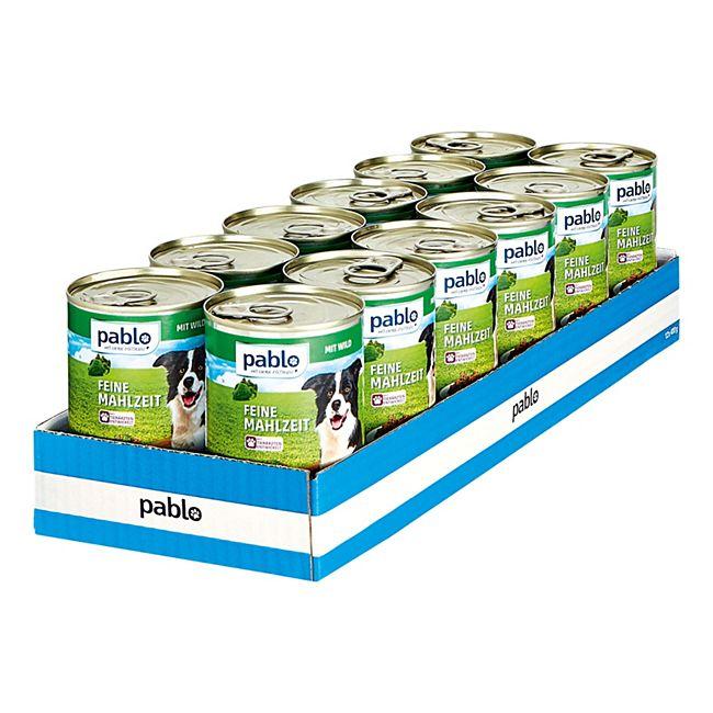 Pablo Hundefutter Wild 400 g, 12er Pack - Bild 1