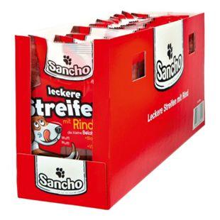 Sancho Hundefutter Kaustreifen Rind 200 g, 15er Pack - Bild 1