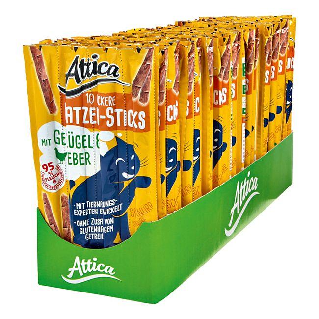 Attica Katzenfutter Sticks Geflügel & Leber 50 g, 30er Pack - Bild 1
