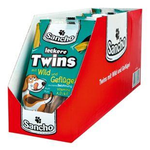 Sancho Hundefutter Kaurollen Twins 100 g, 18er Pack - Bild 1