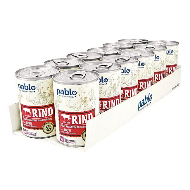 Pablo Hundefutter Naturals Rind 400 g, 12er Pack - Bild 1
