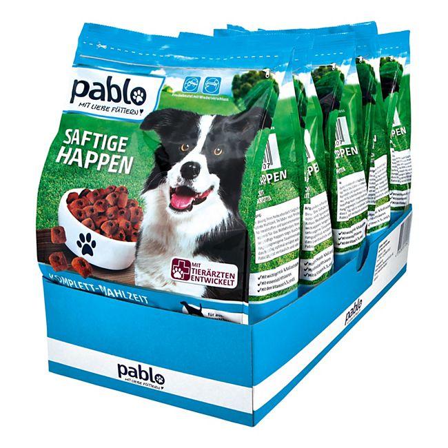 Pablo Hundefutter Saftige Happen Rind 1,5 kg, 5er Pack - Bild 1