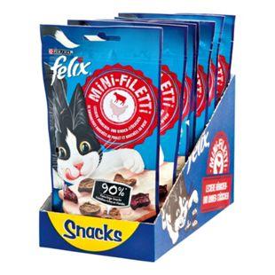 FELIX Katzenfutter Mini-Filetti Leckere Katzensnacks 40 g, 7er Pack - Bild 1