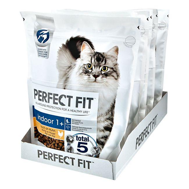 PERFECT FIT Katzenfutter Indoor 1+ Reich an Huhn 750 g, 6er Pack - Bild 1