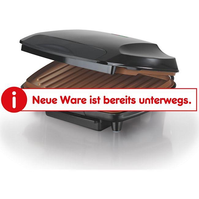 GOURMETmaxx Kontakt-Grill 1000W schwarz/kupfer - Bild 1