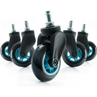 DXRacer Blade Wheels, blau, 5er Set, geeignet für alle Gaming-Stühle von DXRacer - Bild 1