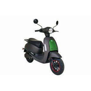 GREENSTREET E-Motorroller »SEED«, 45 km/h, 1200 W Bosch-Motor, Lithium-Ionen Akku (herausnehmbar), mattschwarz/grün - Bild 1