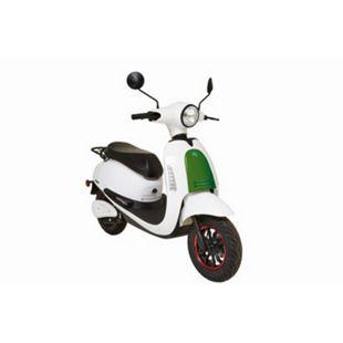 GREENSTREET E-Motorroller »SEED«, 45 km/h, 1200 W Bosch-Motor, Lithium-Ionen Akku (herausnehmbar), weiß/grün - Bild 1