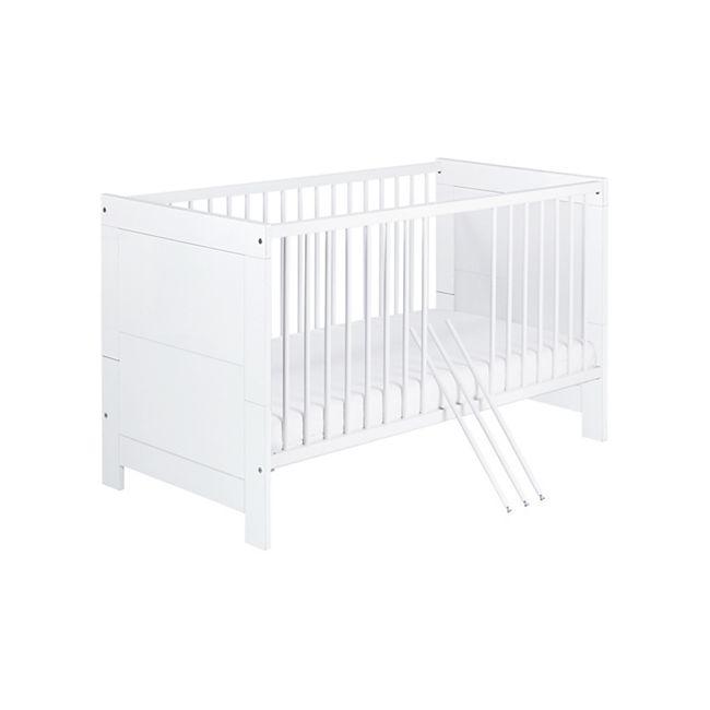 Schardt Kombi-Kinderbett - NORDIC WHITE - 70x140 cm, weiß - Bild 1