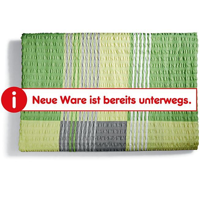 Dekor Seersucker Bettwäsche NG, ca. 135 x 200 cm, verschiedene Designs - Karo grün - Bild 1