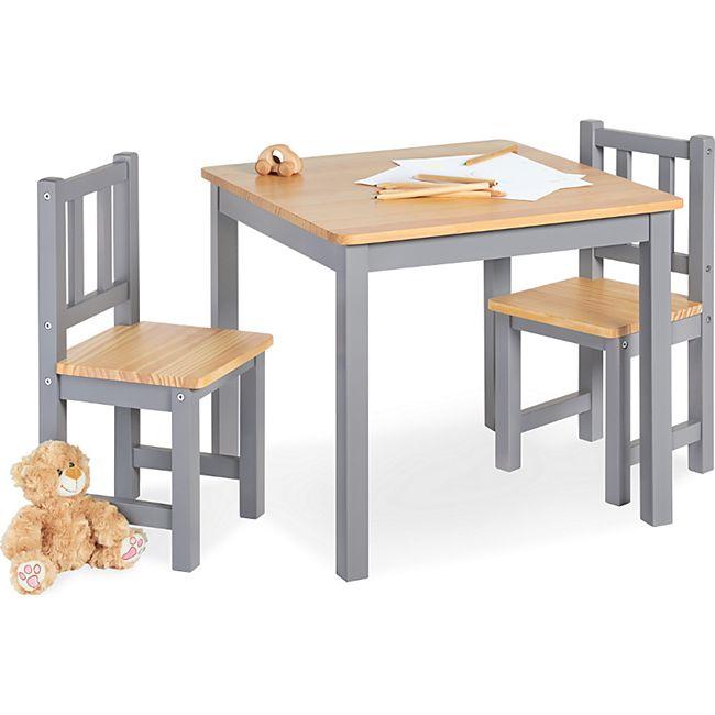 Pinolino Kindersitzgruppe 'Fenna' 3-tlg., grau/natur - Bild 1
