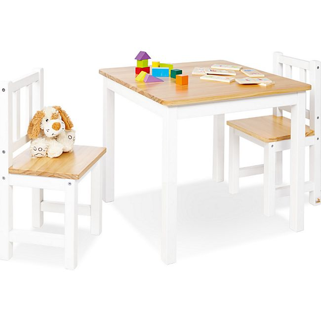 Pinolino Kindersitzgruppe 'Fenna' 3-tlg., weiß/natur - Bild 1