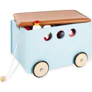 Pinolino Spielzeugkiste mit Rollen 'Jim', mint - Bild 1