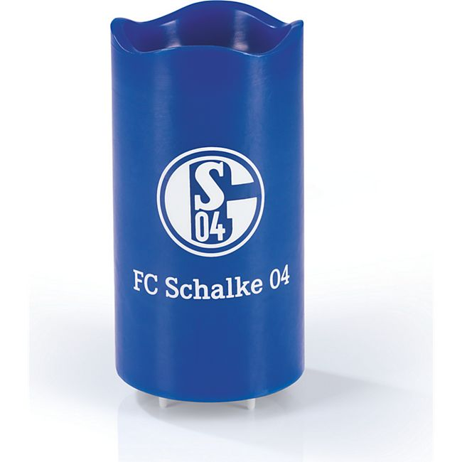 S04 LED-Echtwachskerze Projektor 3V blau mit Logo - Bild 1