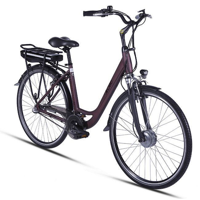 Llobe Metropolitan Joy City E-Bike rot 36V/10Ah - Bild 1