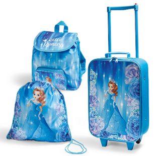 Spirit of colours Kinder Reiseset, 3-teilig, verschiedene Ausführungen - Prinzessin, blau - Bild 1