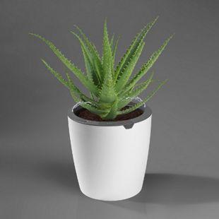 LazyLeaf Blumentopf selbstgießend 6,3l 32cm weiß/grau Micro-USB 1200mAh - Bild 1