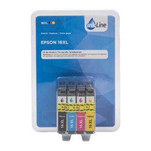 Multipack Druckerpatronen - Inkline Epson 16XL, 4er Pack - Bild 1