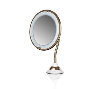 GNTM LED-Kosmetikspiegel 4,5V pearl/gold 5-fach Vergrößerung - Bild 1