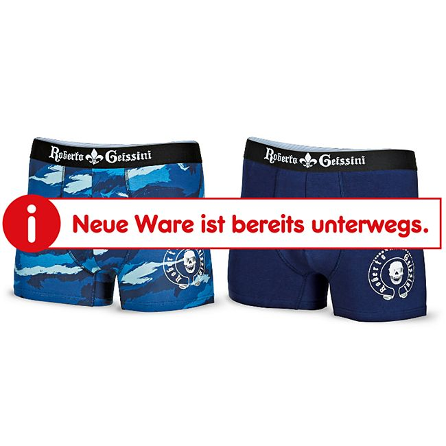 Roberto Geissini Herren Retroshorts, 2er Pack, verschiedene Farbvarianten & Größen - blau, Gr. XL - Bild 1