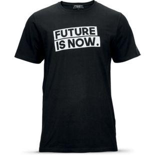 """Roberto Geissini Herren T-Shirt, """"Future is now"""", schwarz - Gr. M - Bild 1"""