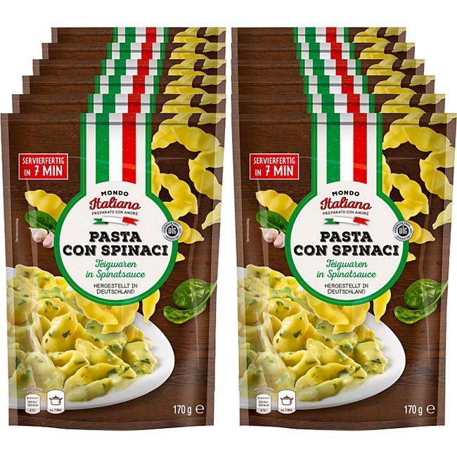 Mondo Italiano Pasta Con Spinaci  170 g, 12er Pack - Bild 1