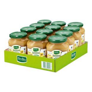 BioBio Apfelmus 360 g, 12er Pack - Bild 1