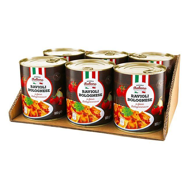 Mondo Italiano Ravioli Bolognese 800 g, 6er Pack - Bild 1