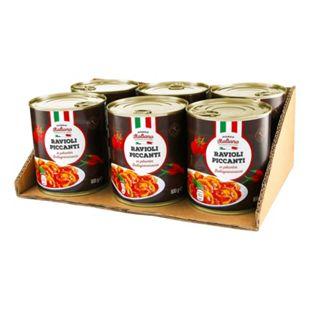Mondo Italiano Ravioli Piccanti 800 g, 6er Pack - Bild 1
