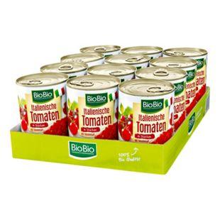 BioBio Tomaten gehackt 400 g, 12er Pack - Bild 1