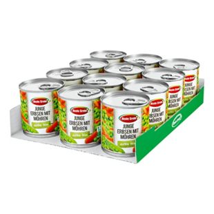 Beste Ernte Erbsen extra fein mit Möhrchen 390 g, 4er Pack - Bild 1