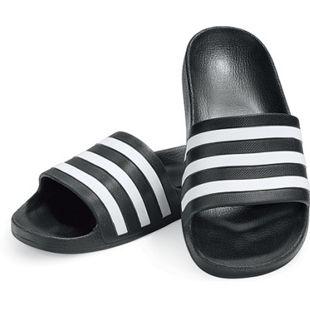 Adidas Adilette Aqua, schwarz/weiß, verschiedene Größen - Gr. 8 - Bild 1