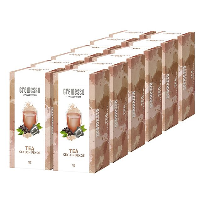 Cremesso Tea Ceylon Pekoe 16 Kapseln 96 g, 12er Pack - Bild 1