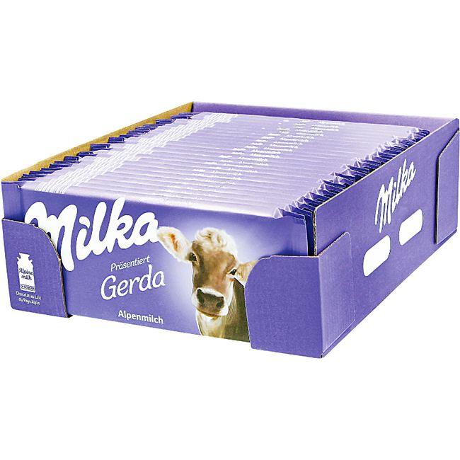 Milka Tafelschokolade Alpenmilch 100 g, 24er Pack - Bild 1
