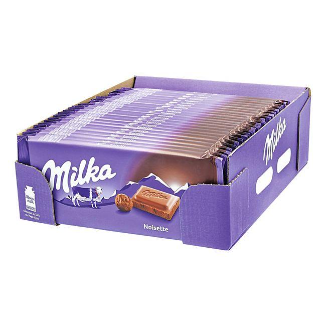 Milka Tafelschokolade Noisette 100 g, 23er Pack - Bild 1