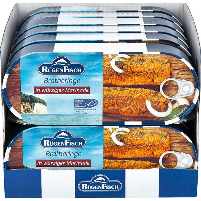 Rügenfisch Bratheringe in Marinade 500 g, 12er Pack - Bild 1