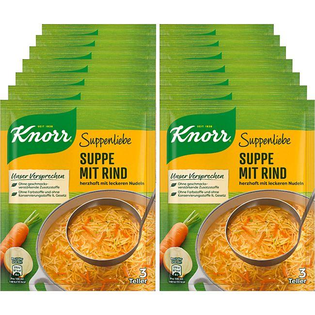 Knorr Suppenliebe Rindfleischsuppe ergibt 0,75 Liter, 14er Pack - Bild 1