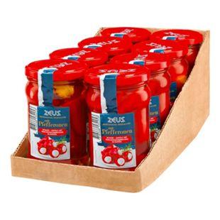 Zeus Rote Pfefferonen mit Frischkäse 270 g, 8er Pack - Bild 1